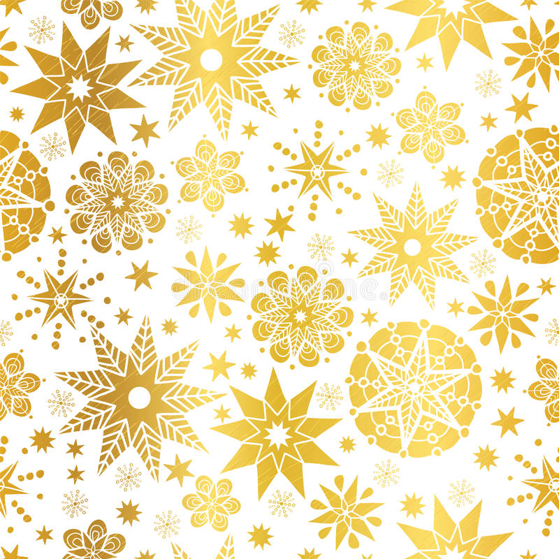 Vector Golden Abstract Doodle Stars Seamless Pattern Background. Great for elegant gold texture fabric, cards, wedding. Invitations, wallpaper. Surface pattern vector illustration