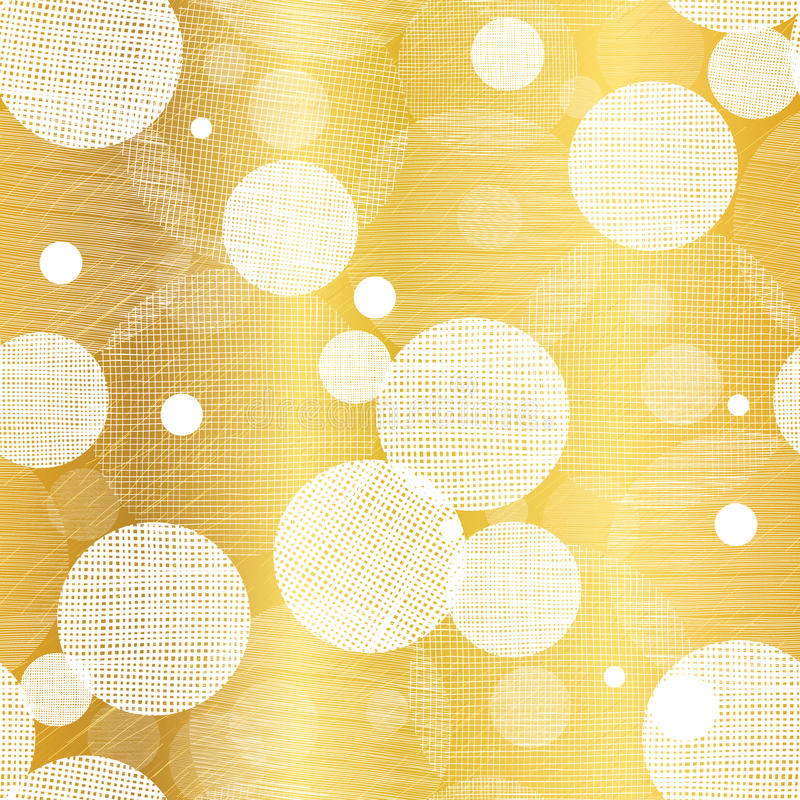 Vector Golden Abstract Swirls Seamless Pattern Background. Great for elegant gold texture fabric, cards, wedding. Invitations, wallpaper. Surface pattern design stock illustration