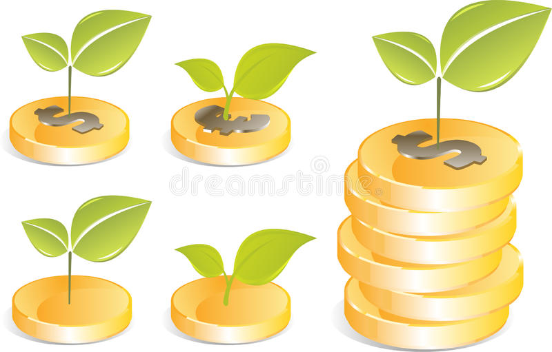 Vector golden coins