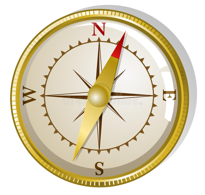 Download Vector Golden Compass Royalty Free Stock Photography - Image: 16993527