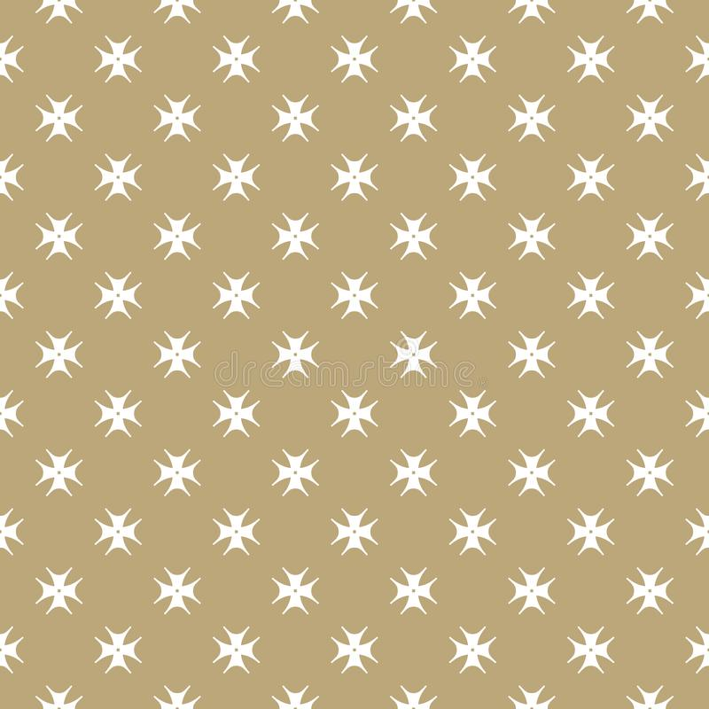 Vector golden floral seamless pattern with small flower shapes. royalty free illustration