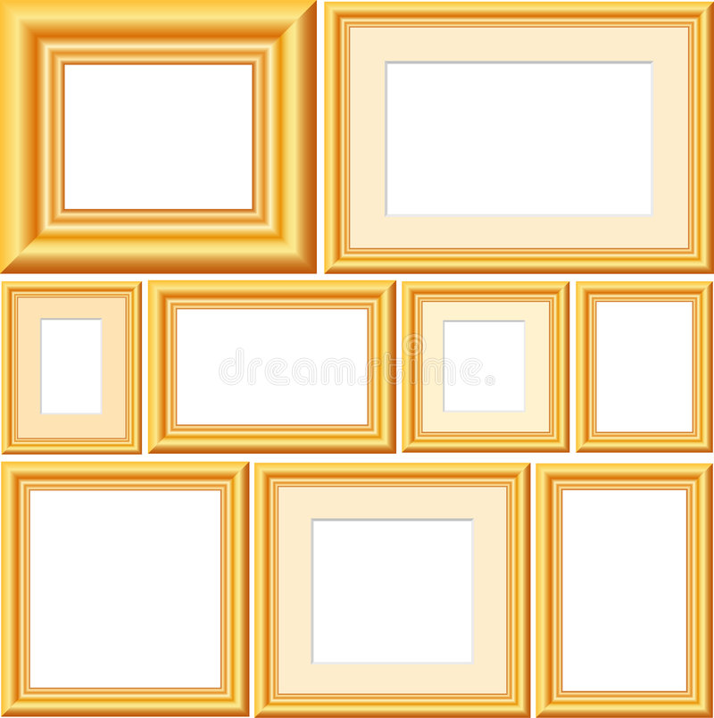 Free Vector Golden Frames Stock Images - 3342134