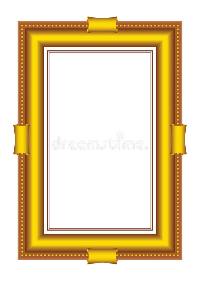 Download Vector Golden Frames Baguette Stock Vector - Illustration of golden, molding: 11126385