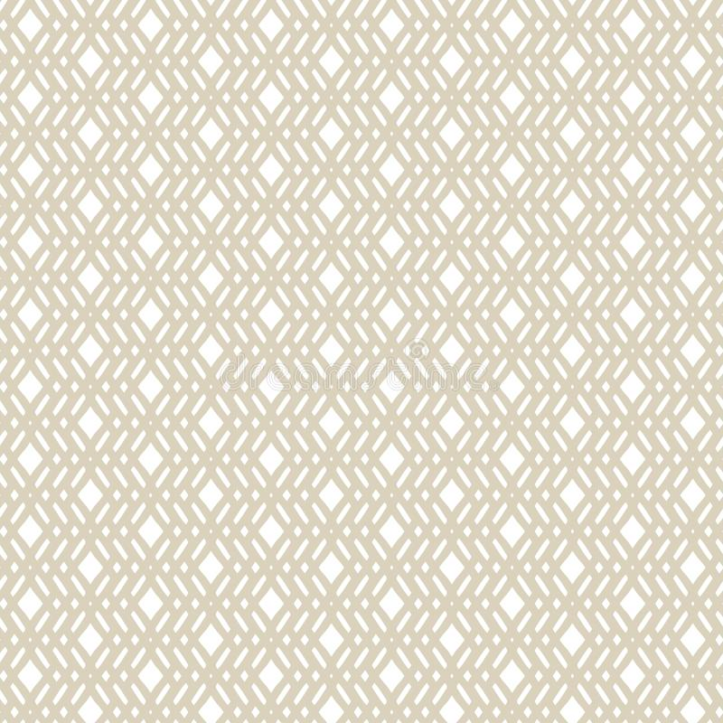 Vector golden geometric seamless pattern in ethnic style. Repeat design element stock illustration