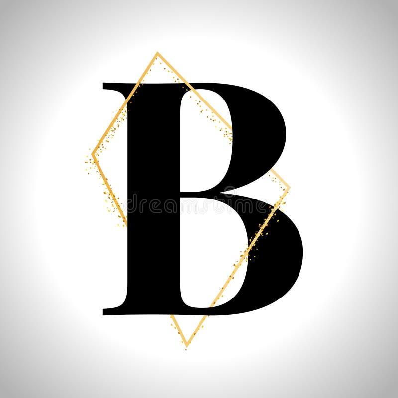 Vector golden letters. Set of gold alphabet. Frame glitter royalty free illustration