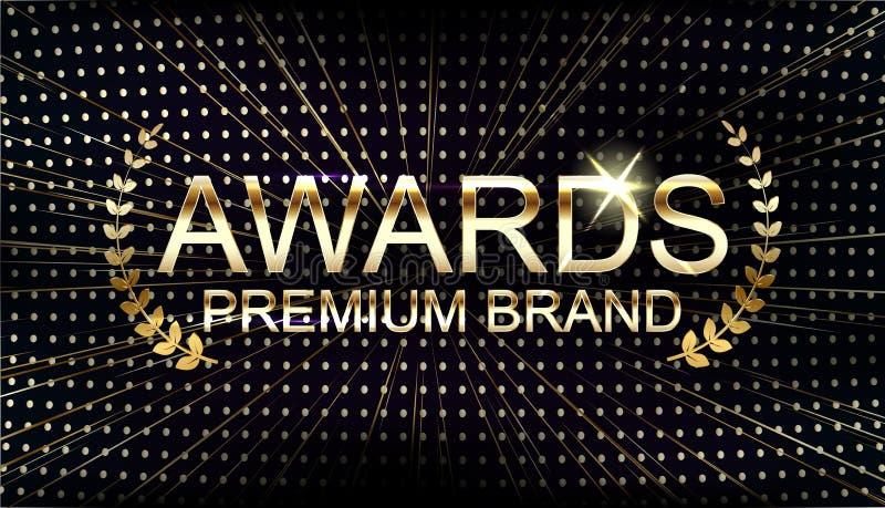 Vector Golden logo Awards - Ceremonie vector illustratie