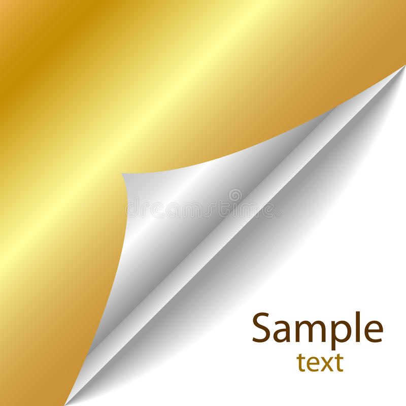 Download Vector Golden Page Corner Royalty Free Stock Image - Image: 14144996