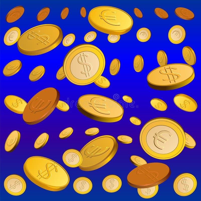 Free Vector Golden Rain Stock Image - 18715431