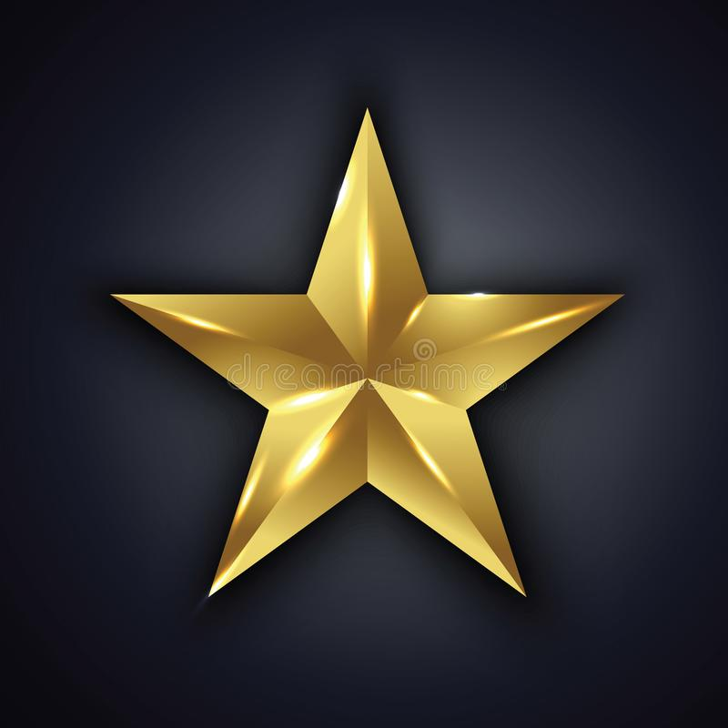 Vector golden star. A vector golden star illustration royalty free illustration