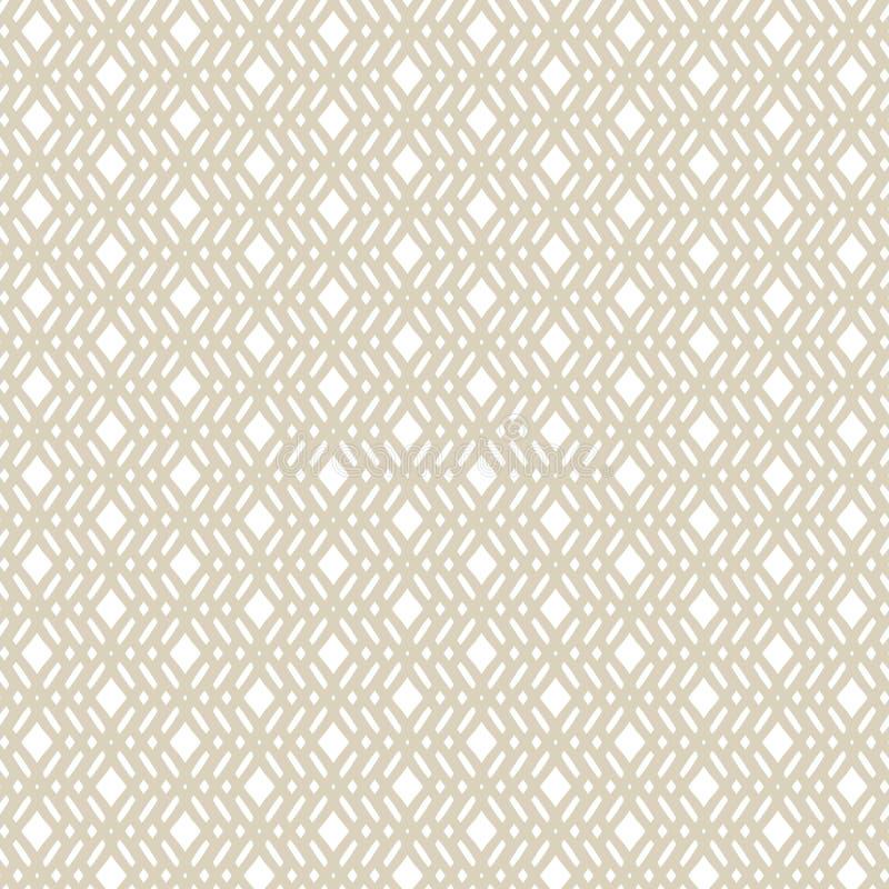 Vector goldenes geometrisches nahtloses Muster in der ethnischen Art Wiederholen Sie Gestaltungselement stock abbildung