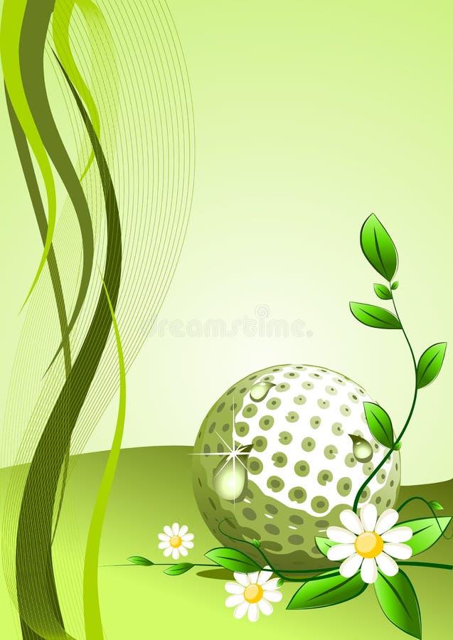 Vector golfAchtergrond royalty-vrije illustratie