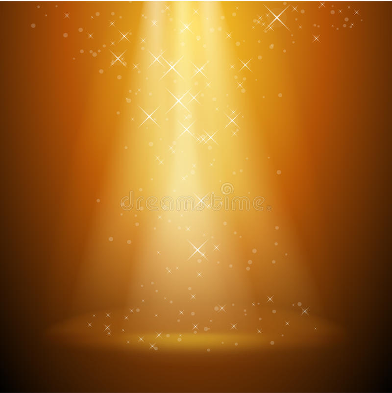 Vector gouden achtergrond stock illustratie