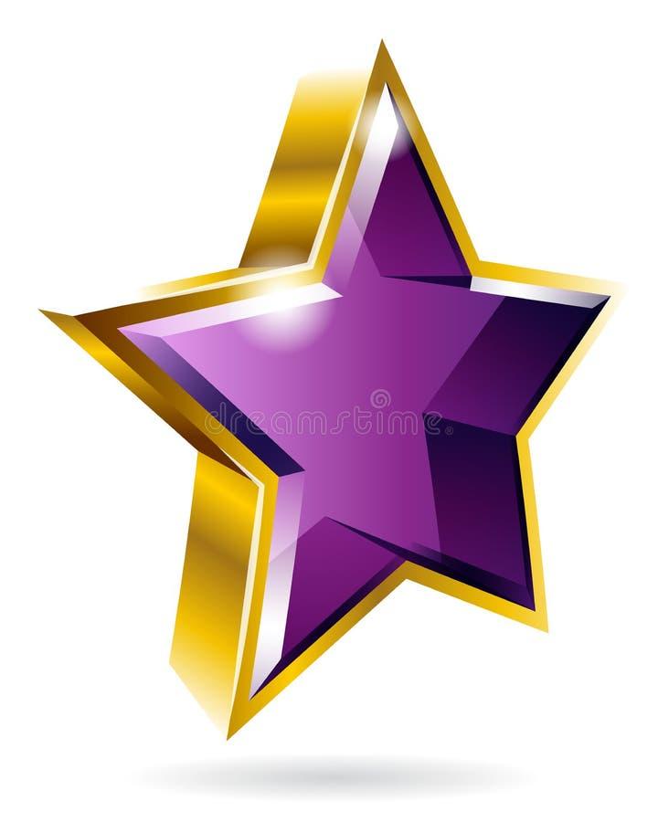 Vector gouden grafisch stersymbool geïsoleerd op witte achtergrond vector illustratie
