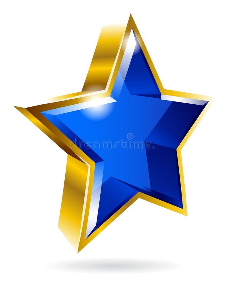 Vector gouden grafisch stersymbool geïsoleerd op witte achtergrond royalty-vrije illustratie