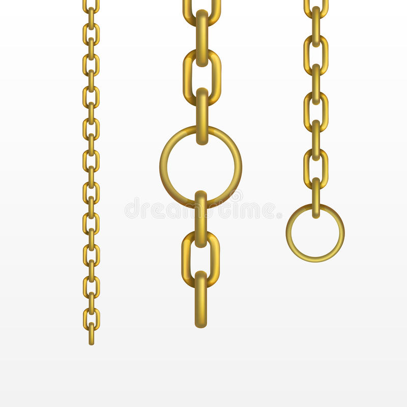 Vector Gouden Ketting royalty-vrije illustratie