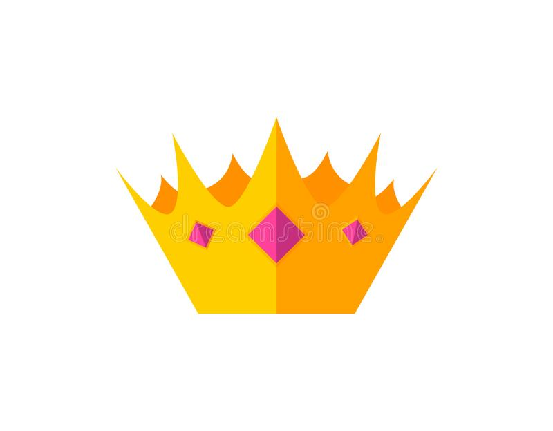 Vector gouden kronen royalty-vrije illustratie
