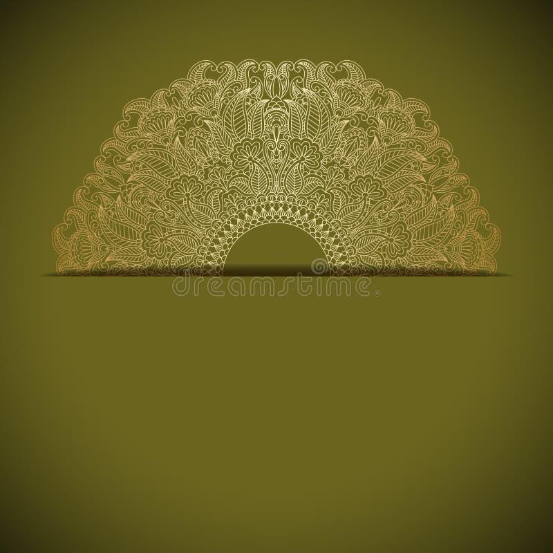 Vector gouden ornament. vector illustratie