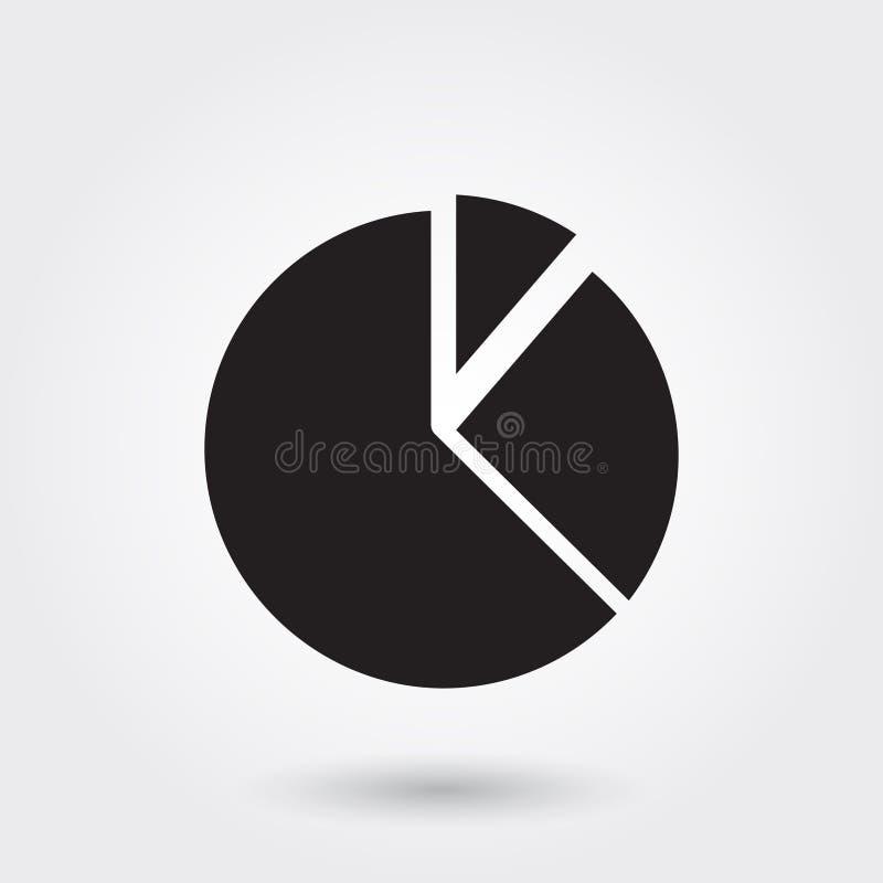Vector, gráfico de sectores, negocio, icono perfecto para la página web, apps móviles, presentación del Glyph del informe ilustración del vector