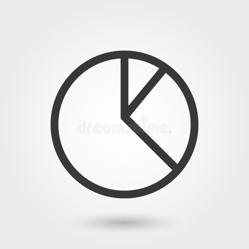 Vector, gráfico de sectores, negocio, informe, línea icono con la sombra ilustración del vector