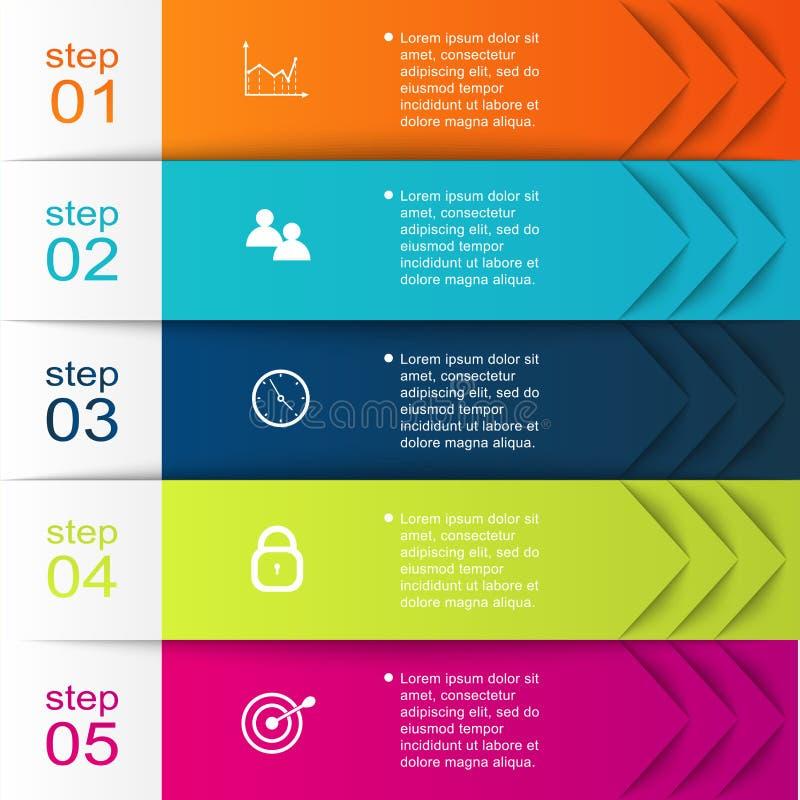 Vector gráficos coloridos da informação para suas apresentações do negócio ilustração do vetor