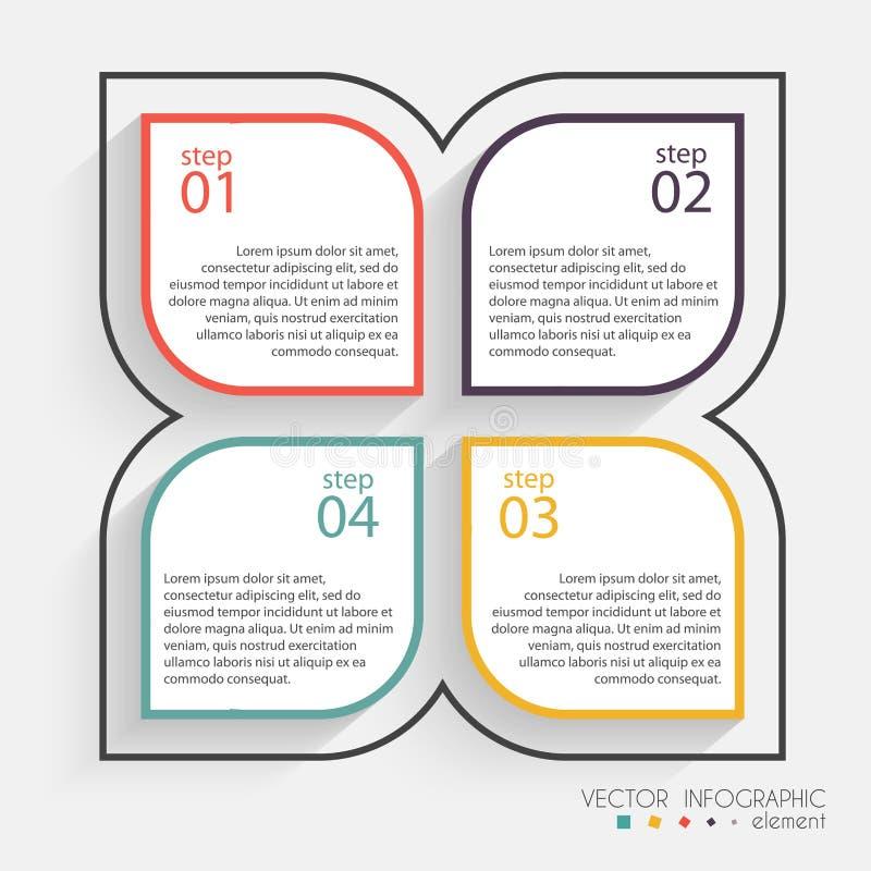 Vector gráficos coloridos da informação para suas apresentações do negócio ilustração stock