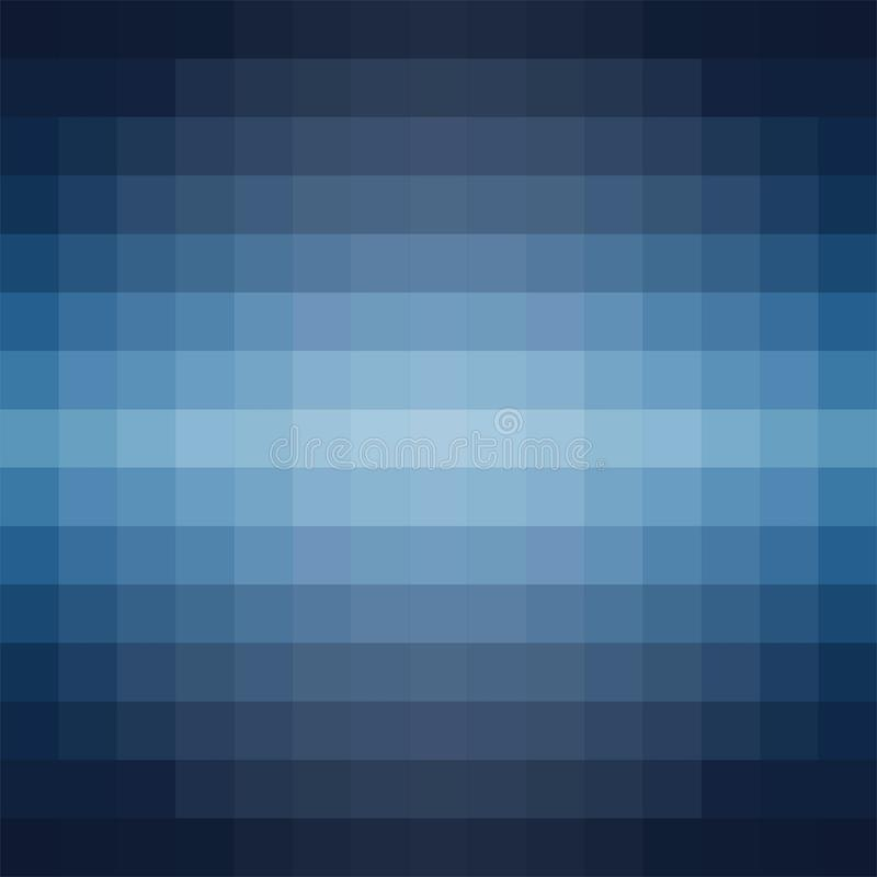 Vector gradient background in shades of blue made from monochrome squares of pixels. Vector gradient background in shades of blue made from monochrome squares stock illustration