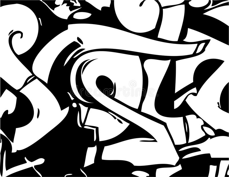 Vector graffiti royalty-vrije illustratie