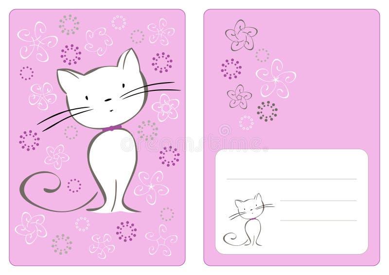 Vector grafische reeks met kat royalty-vrije illustratie