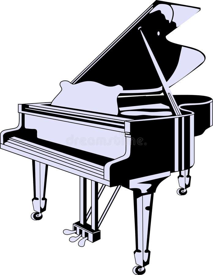 Vector grand piano vector illustration