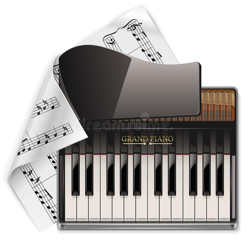 Vector grand piano XXL icon royalty free illustration
