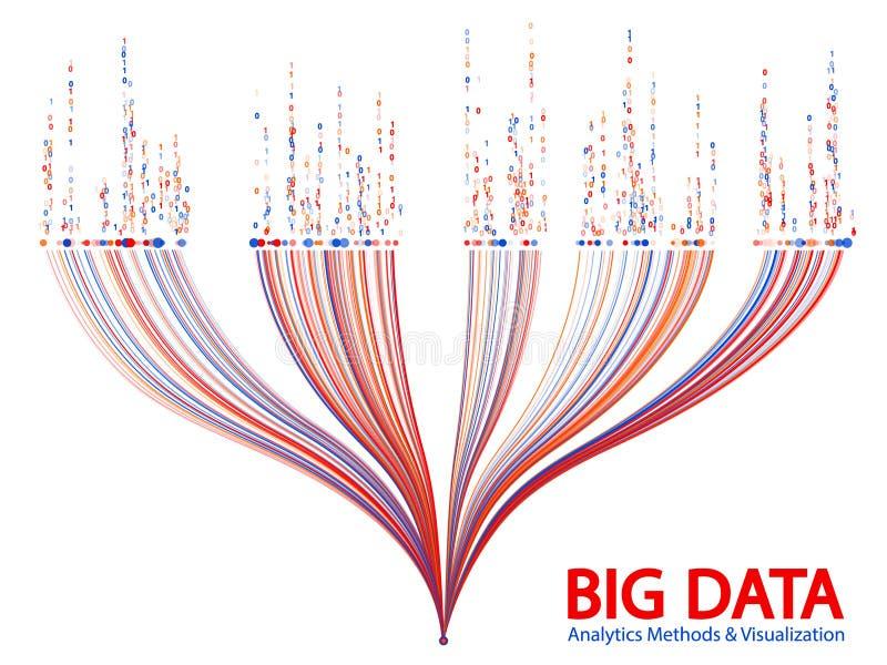Vector grande del concepto de la visualizaci?n de los datos stock de ilustración