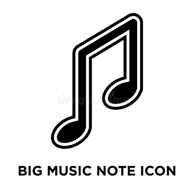 Vector grande del icono de la nota de la música aislado en el fondo blanco, logotipo co libre illustration