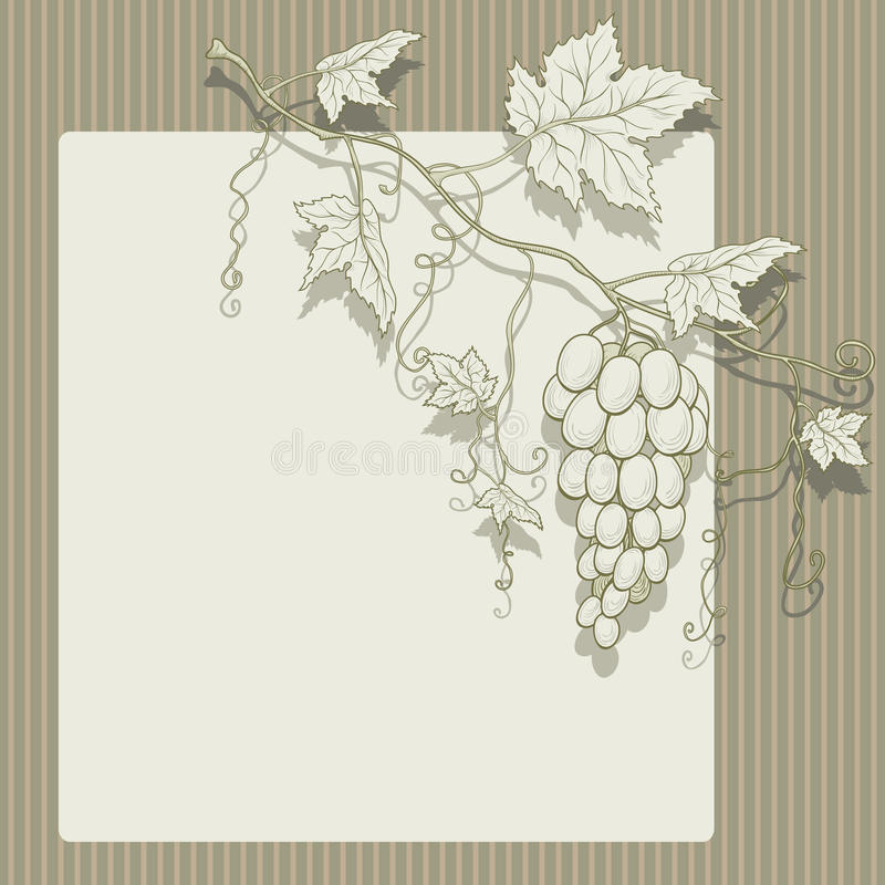 Download Vector grapes with leaves. stock vector. Illustration of food - 22770381