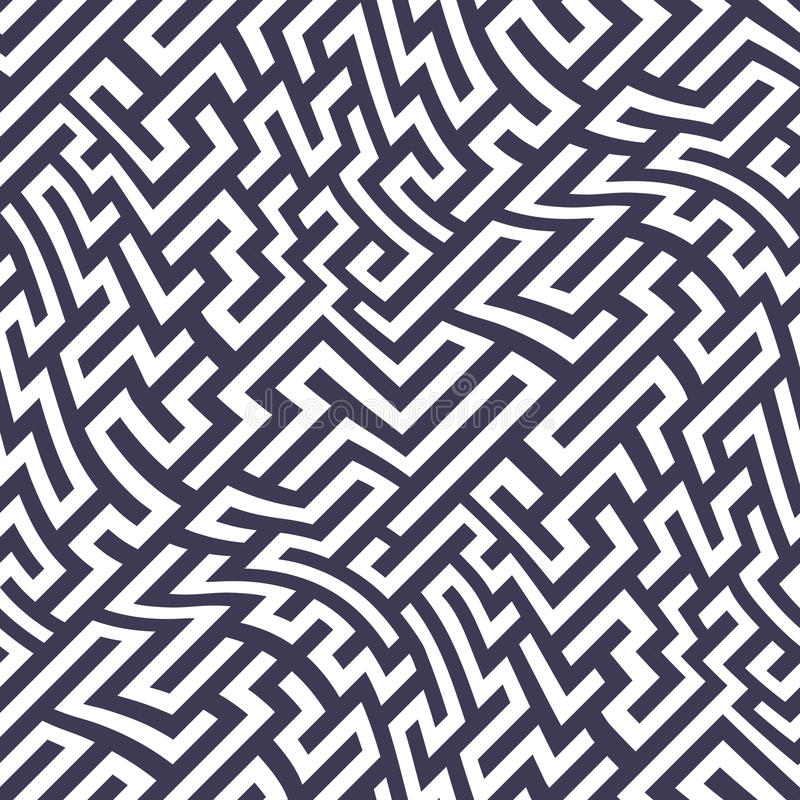 Download Vector Graphic Abstract Geometry  Maze Pattern. Purple Seamless Geometric Labyrinth Background Stock Vector - Image: 85973729