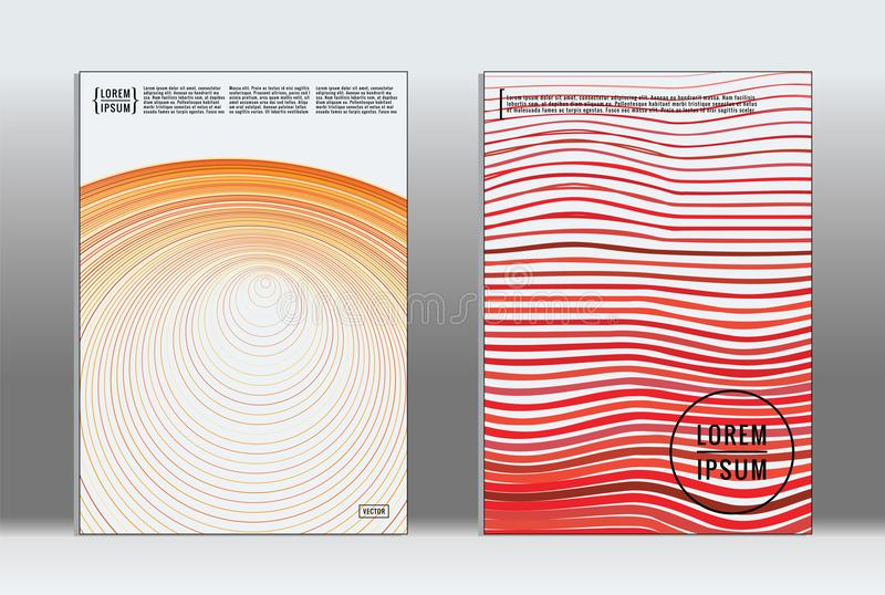 Vector graphic geometric covers. stock illustration