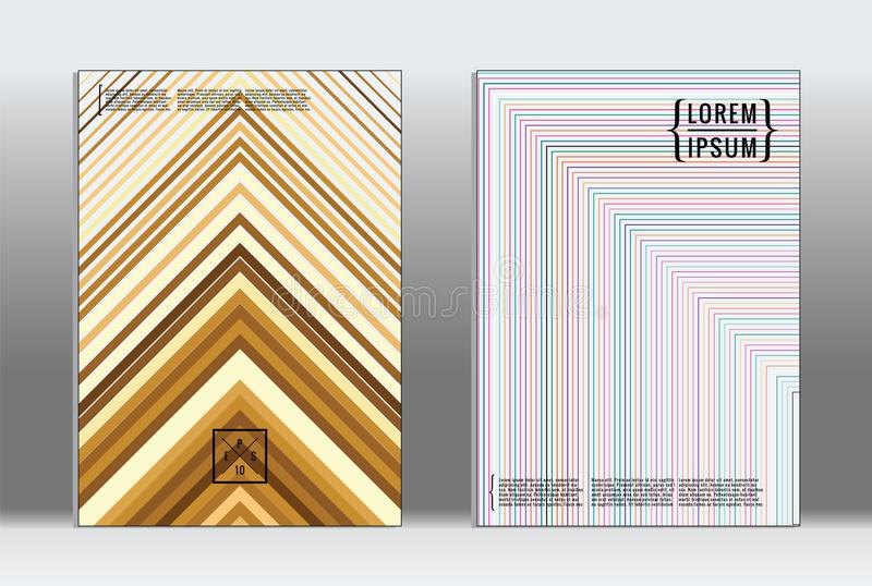 Vector graphic geometric covers. vector illustration