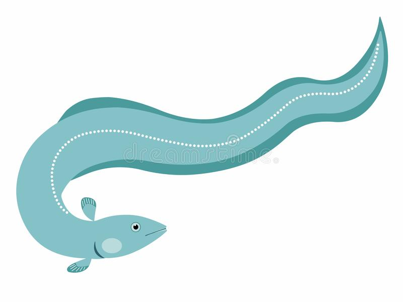 Illustration of an Eel. On a white background royalty free illustration