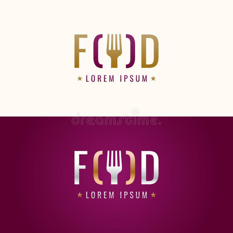 Vector graphic sign for restaurant or cafe. vector illustration