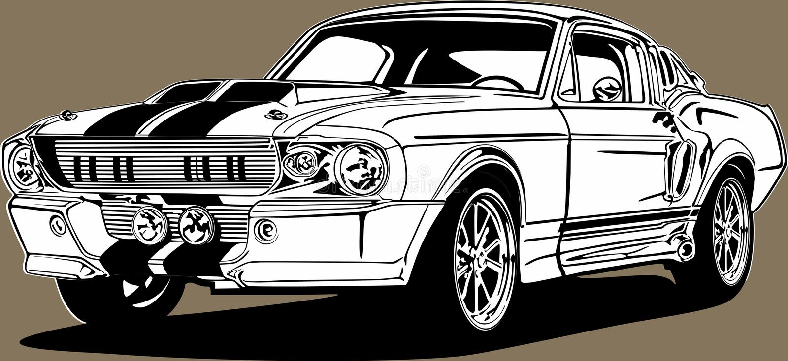 Classic Car Muscle Cliparts, Stock Vector And Royalty Free Classic Car  Muscle Illustrations