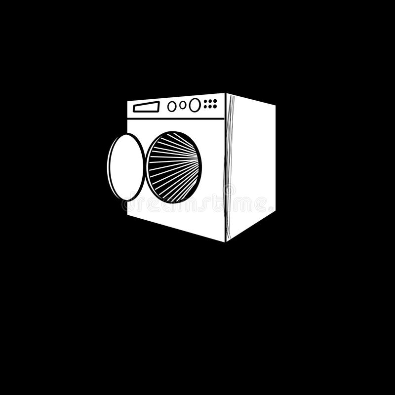 Vector graphic symbol of the washing machine royalty free illustration