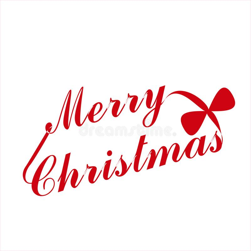 Merry Christmas vector text Calligraphic. Lettering design card template vector illustration