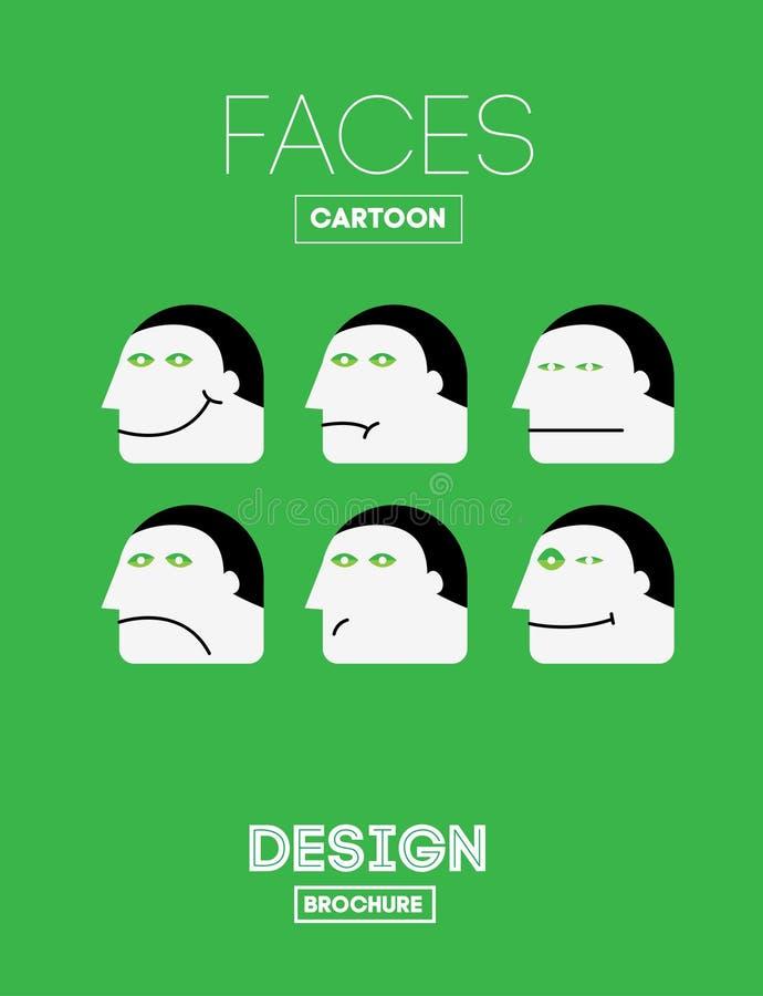 Vector Grappige Emoties royalty-vrije illustratie