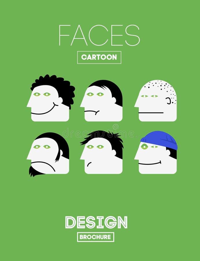 Vector Grappige Emoties stock illustratie