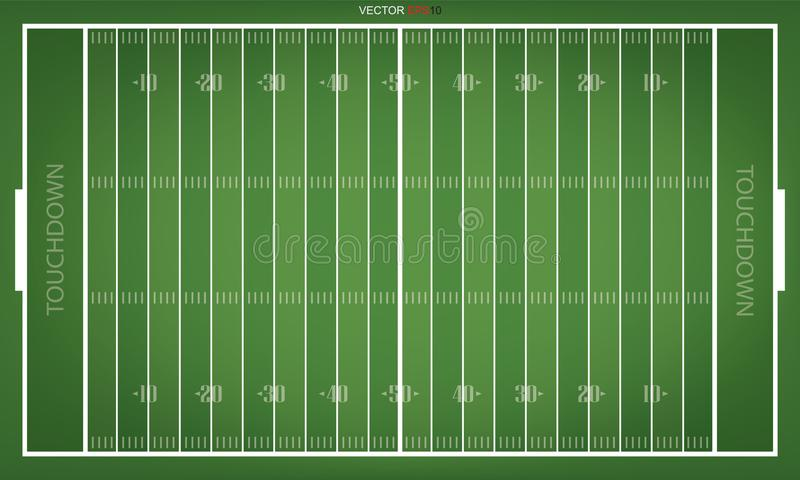A vector grass textured American football field. EPS 10. royalty free illustration