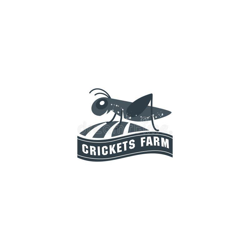 Grasshopper, cricket insect logo. Vector grasshopper logo. Brand logo in the shape of a grasshopper royalty free illustration