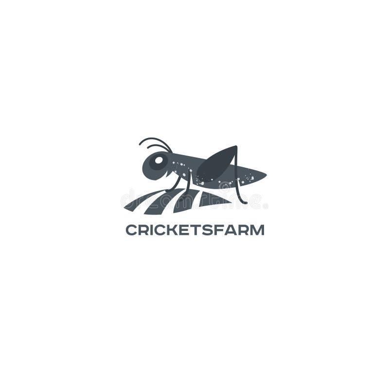 Grasshopper, cricket insect logo. Vector grasshopper logo. Brand logo in the shape of a grasshopper vector illustration