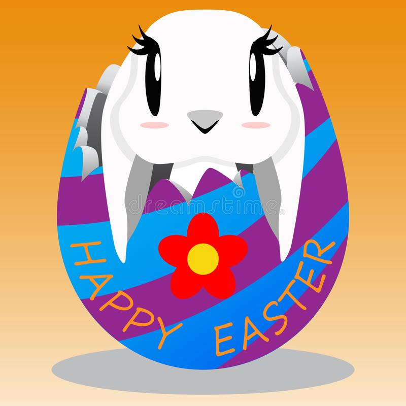 Happy Easter day with rabbit royalty free stock image
