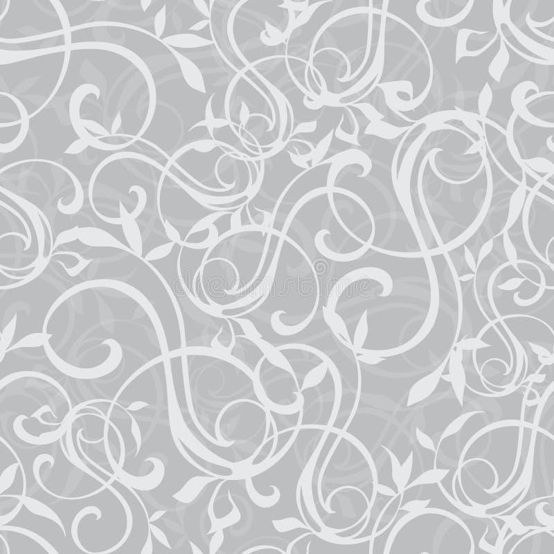 Vector Gray Swirly Texture Seamless Pattern stock de ilustración