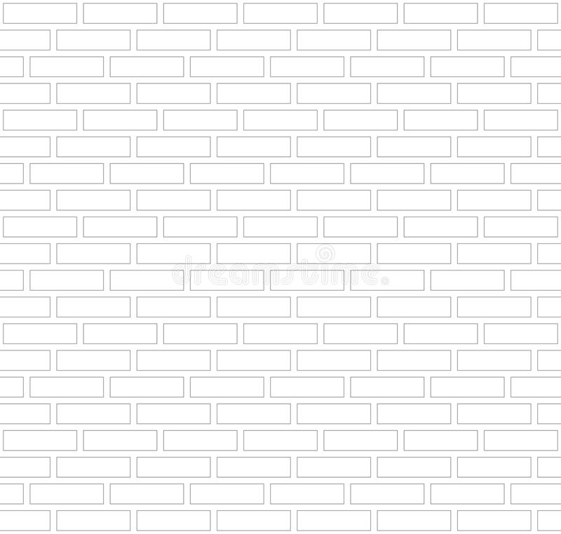 Vector gray and white outline border brick wall background. Old texture urban masonry. Vintage architecture block wallpaper. Retro. Facade room illustration stock illustration