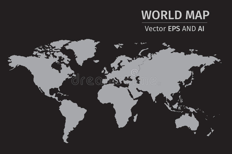 Vector gray world map on black background stock illustration download vector gray world map on black background stock illustration illustration of atlas circle gumiabroncs Image collections